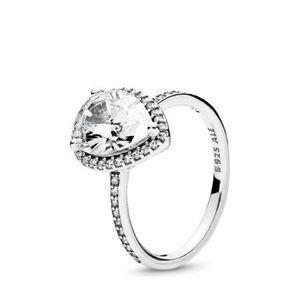NWOT Pandora silver radiant teardrop ring , size 6